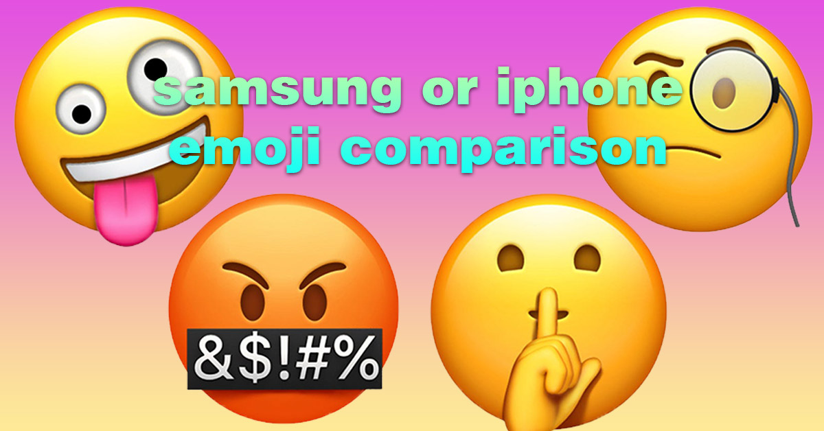 Samsung vs Apple Emojis