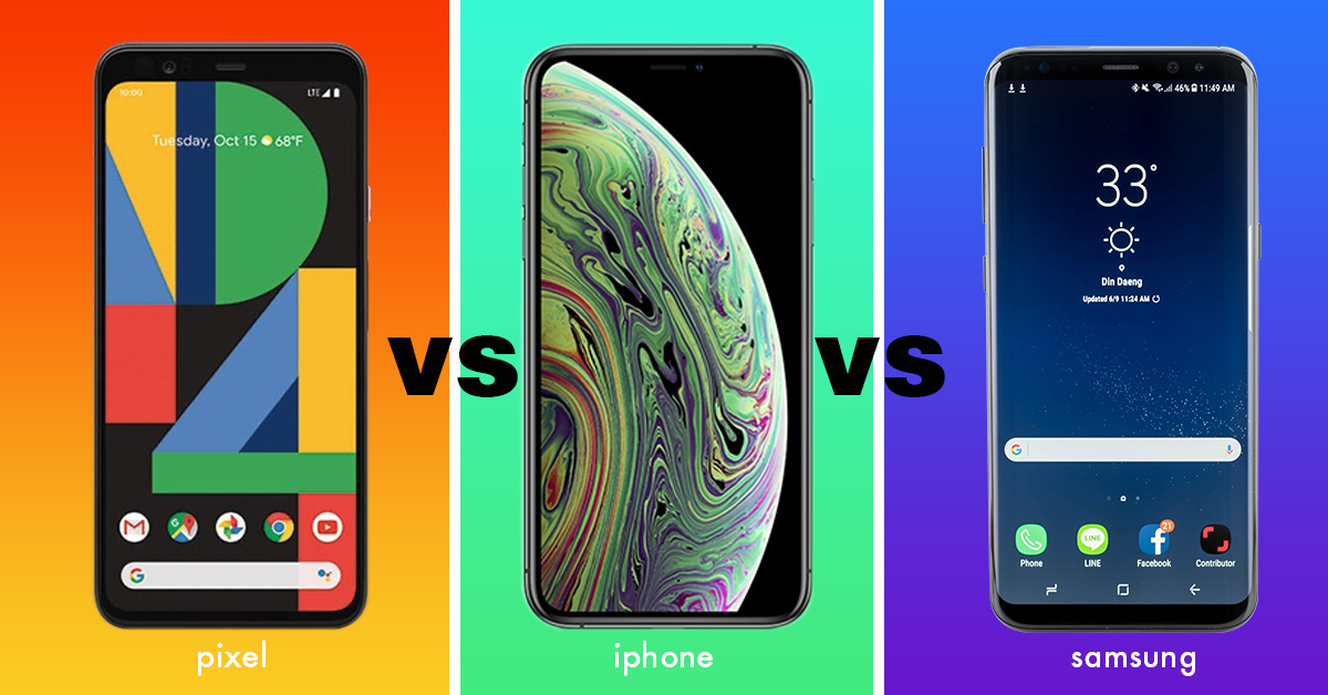 Smartphone rivalries – Samsung vs iPhone vs Pixel?