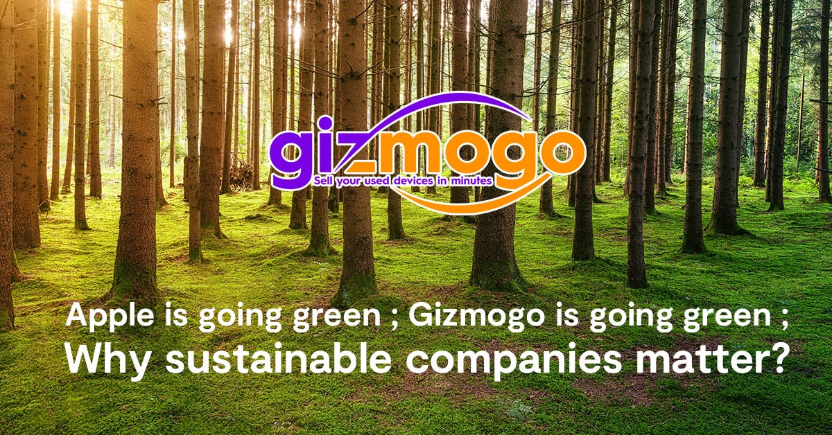 Apple is going green; Gizmogo is going green – Why sustainable companies matter?