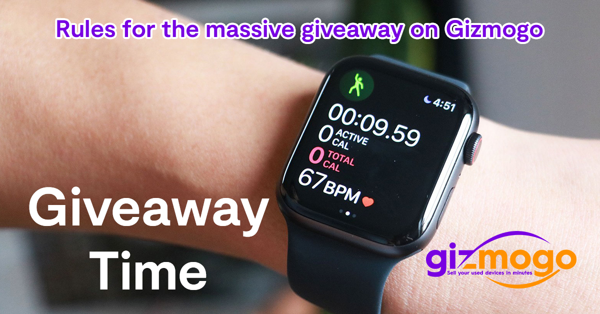 Rules for the massive giveaway on Gizmogo